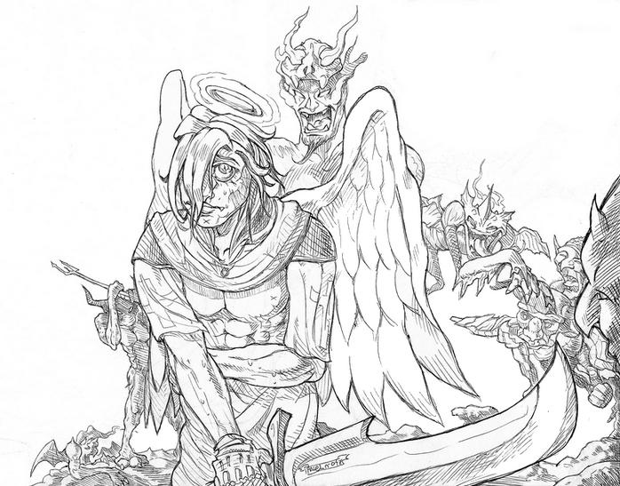 Un ange vs d mons - Dessin de demon ...