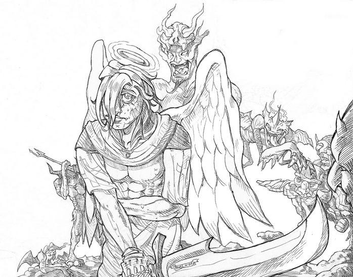 Un ange vs d mons - Dessin ange demon ...