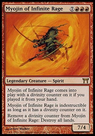 NM MTG Magic Anglais Myojin of Infinite Rage Champions of Kamigawa n°181