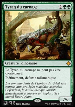 Français Tyran du carnage Ixalan n°179 NM MTG Magic